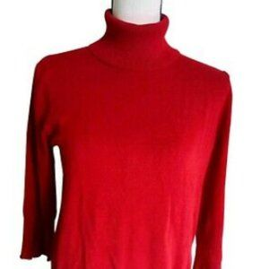 Studio1940 Red Sweater Rollneck Womens Collar neck
